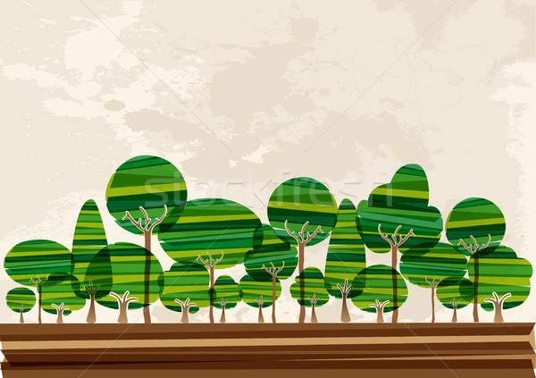 Multicolor forest landscape Stock photo © cienpies