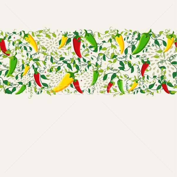 Mexican chili pepper pattern design Stock photo © cienpies