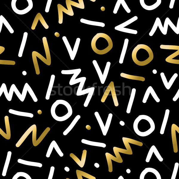 Abstract retro seamless pattern in gold color  Stock photo © cienpies