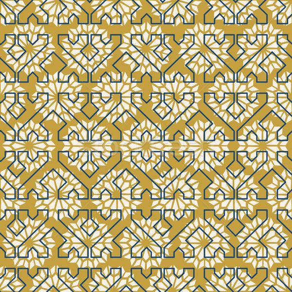 Arab mosaic tile vintage seamless pattern Stock photo © cienpies