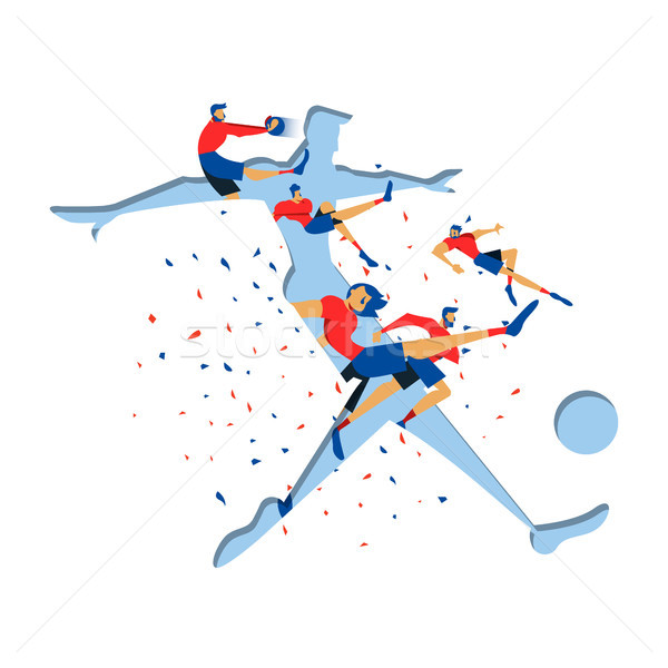 Soccer player cutout for special sport game event Stock photo © cienpies