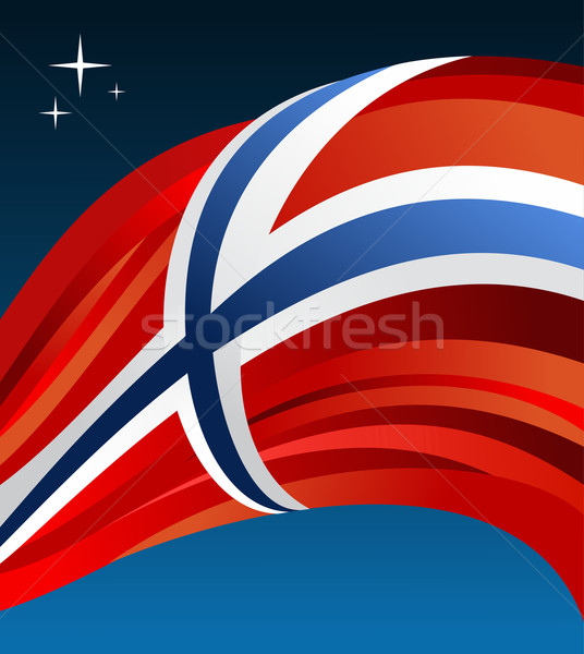 Stock photo: Norway flag vector illustration