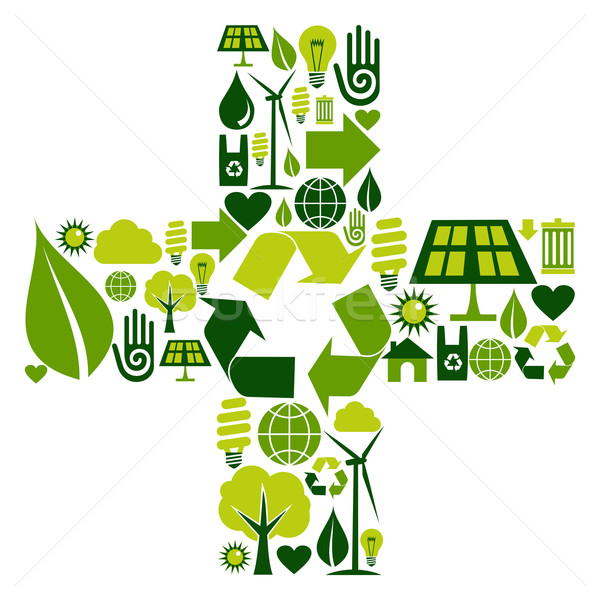 Foto stock: Símbolo · ambiental · iconos
