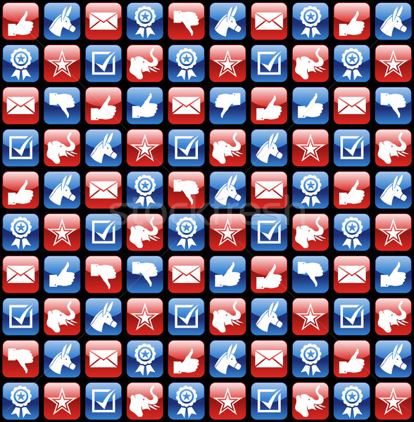 USA elections glossy internet icons pattern Stock photo © cienpies