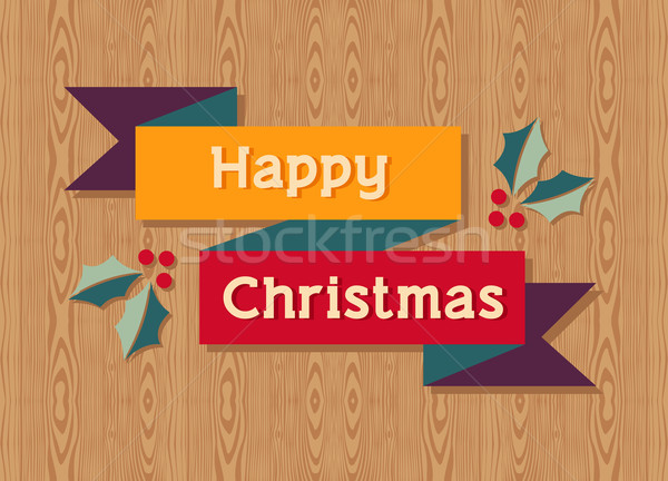 Happy Christmas ribbon element Stock photo © cienpies