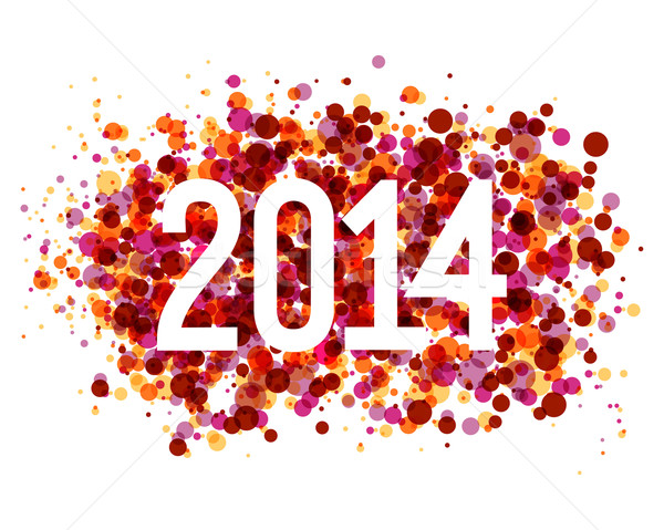 Multicolor Happy New Year 2014 background Stock photo © cienpies