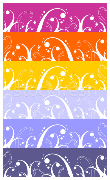 Waves and curls pattern background Stock photo © cienpies