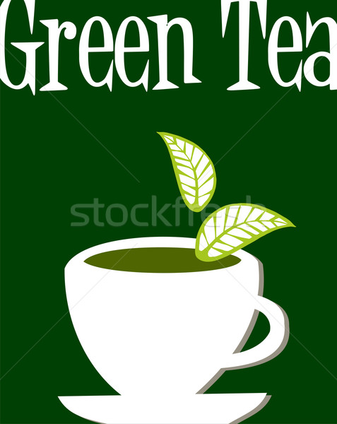 Green tea label Stock photo © cienpies
