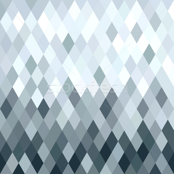Silver metal rhombus geometry seamless pattern Stock photo © cienpies
