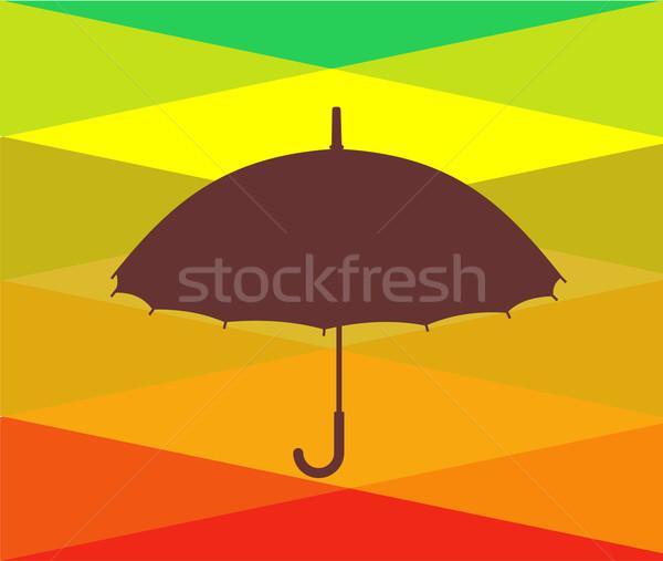 カラフル 傘 ベクトル 空 水 抽象的な ストックフォト © cienpies