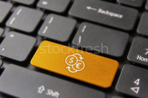 Dinero intercambio clave línea moneda Foto stock © cienpies