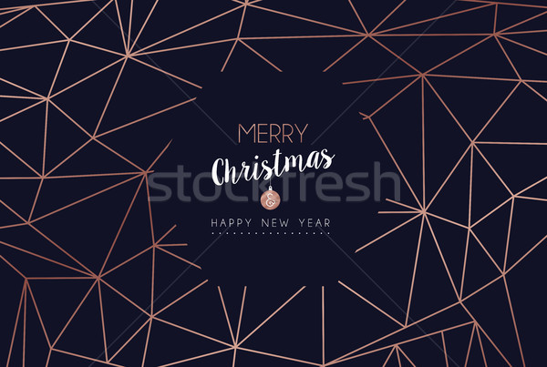 Christmas and new year abstract decoration card Stock photo © cienpies