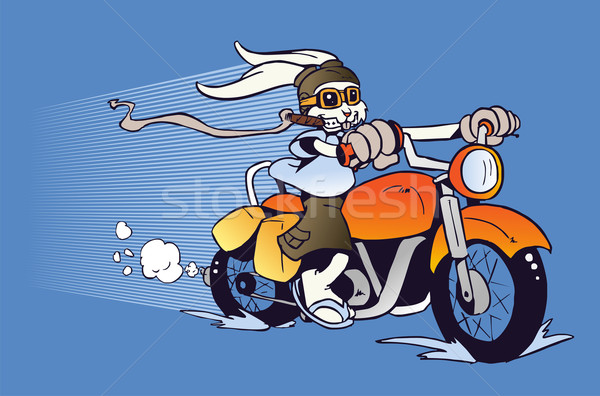 Motorized cartoon Easter Bunny Stock photo © cienpies