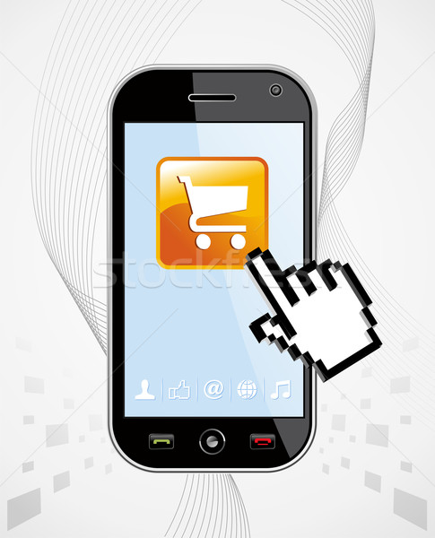 Smartphone buy application Stock photo © cienpies