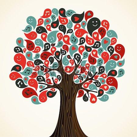Ayudas cinta árbol rojo Foto stock © cienpies