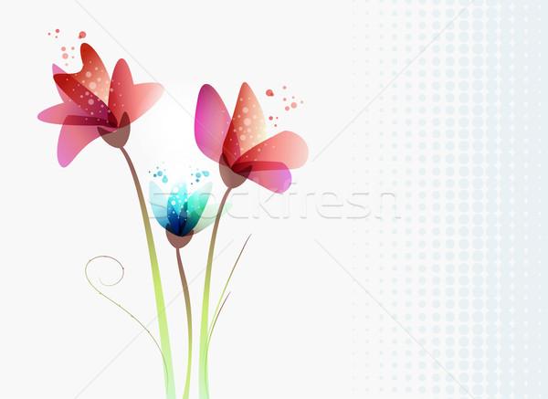 свежие прозрачность цветы весны время современный Сток-фото © cienpies