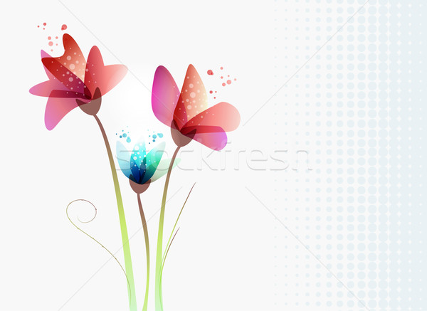 Fresh transparency flowers Stock photo © cienpies