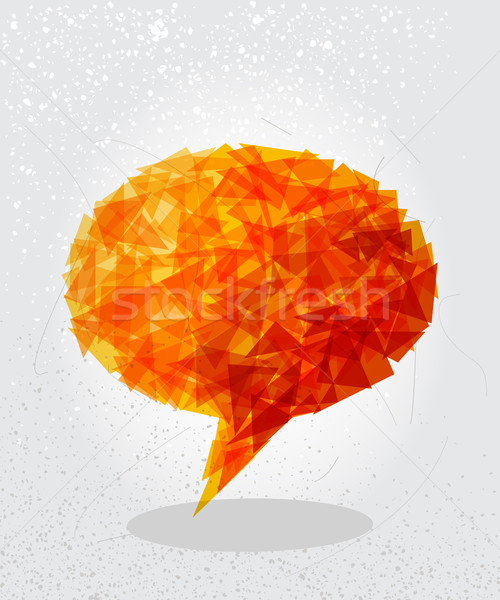 Orange social bubble shape. Stock photo © cienpies