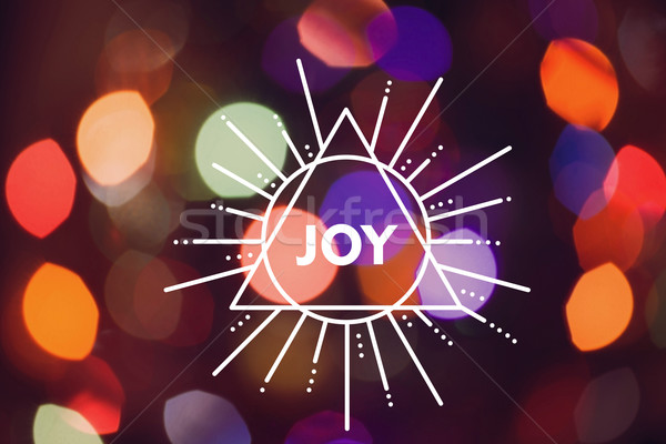 陽気な クリスマス 三角形 ラベル 喜び ストックフォト © cienpies