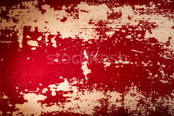Red wood background retro grunge  Stock photo © cienpies