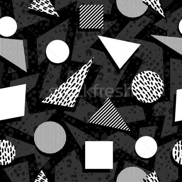 Seamless pattern in black and white retro style Stock photo © cienpies