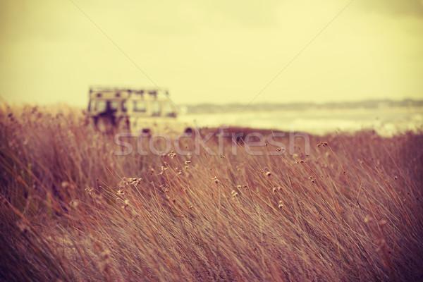 Beach landscape and retro car freedom concept Stock photo © cienpies