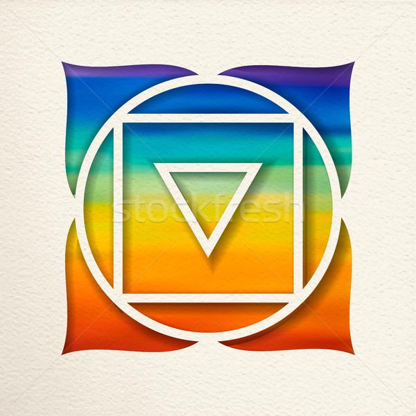 Stockfoto: Wortel · chakra · ontwerp · yoga · illustratie