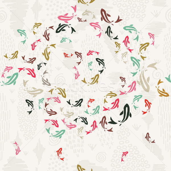 ニシキゴイ 金 魚 カラフル アジア ストックフォト © cienpies