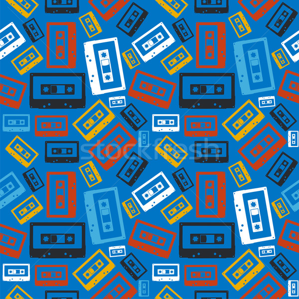 Old audio cassette pattern Stock photo © cienpies