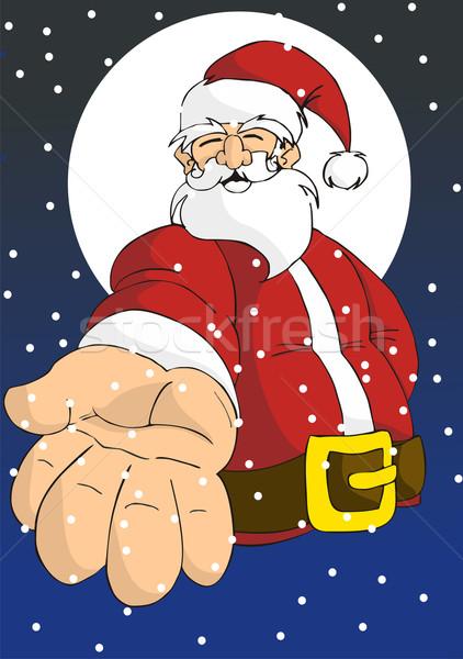 Foto stock: Navidad · feliz · mano · postal · alegre