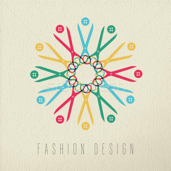 Fashion design color concept textile tools Stock photo © cienpies