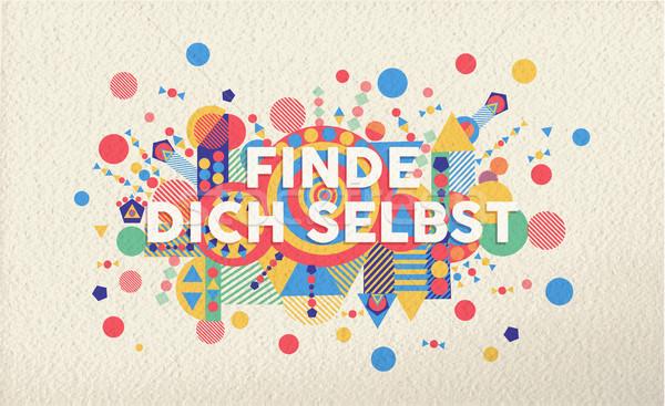 Trouver vous-même motivation citer affiche coloré Photo stock © cienpies
