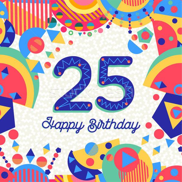 25 vinte cinco ano festa de aniversário cartão Foto stock © cienpies