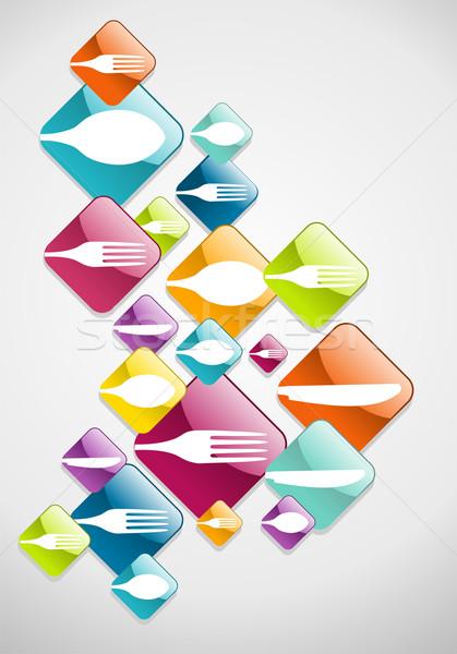 ストックフォト: 矢印 · 食品 · アイコン