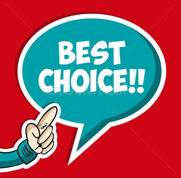 Legjobb választás társasági buborék kéz kommunikáció matrica Stock fotó © cienpies