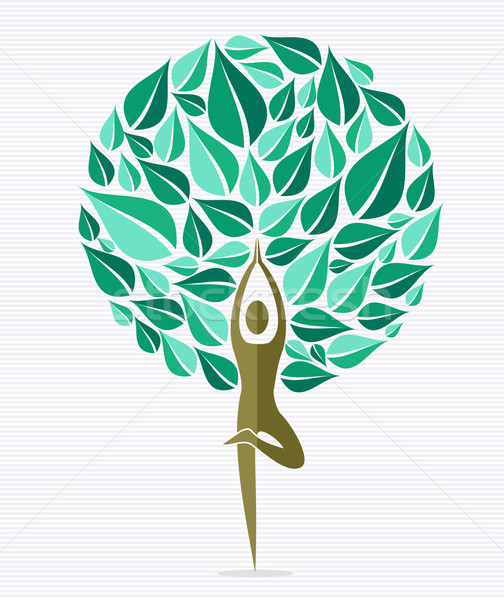 India yoga leaf tree Stock photo © cienpies