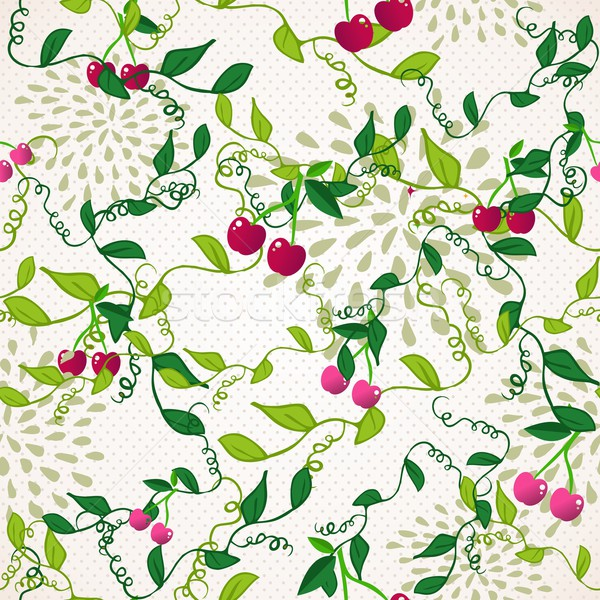 Seamless pattern with cherry Stock photo © cienpies