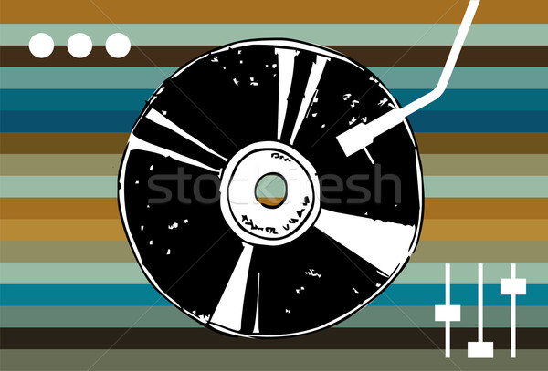 Disco music background.  Stock photo © cienpies