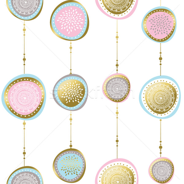 Gold christmas pattern ornaments and decoration Stock photo © cienpies