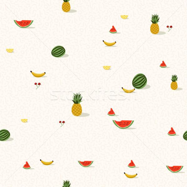 Tropicales fruits d'été modèle été saison Photo stock © cienpies