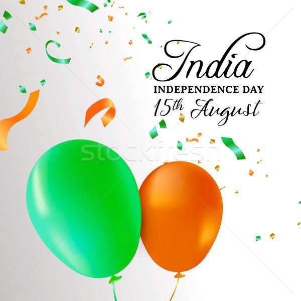 Hindistan gün balon kutlama kart tebrik kartı Stok fotoğraf © cienpies