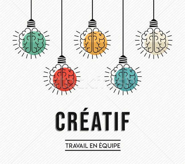 Creative teamwork ideas french design concept Stock photo © cienpies