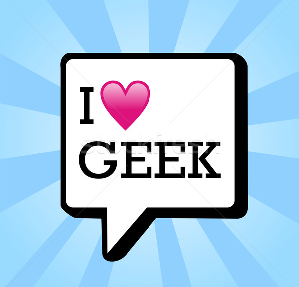 I love geek message background illustration Stock photo © cienpies