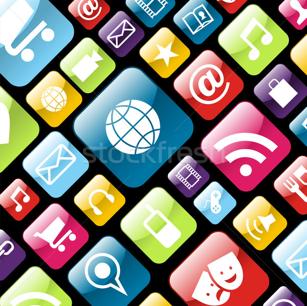 Mobile phone app icon background Stock photo © cienpies