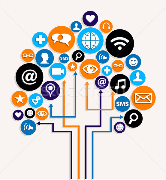 Social media networks business tree plan Stock photo © cienpies