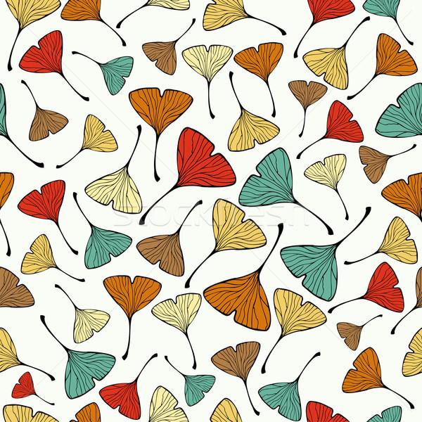Vintage Ginko biloba Leaf pattern Stock photo © cienpies