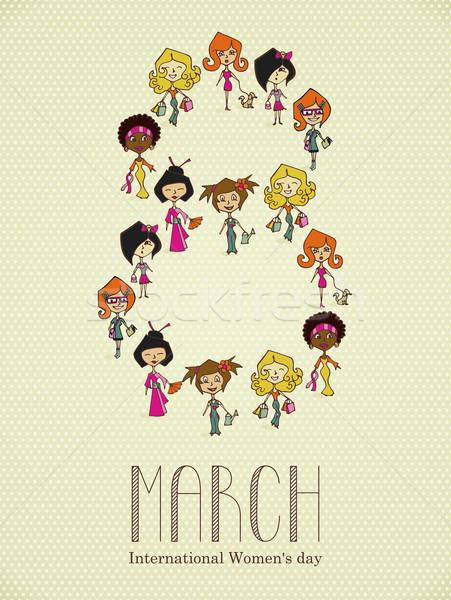 Diversity 8 march Women Day Stock photo © cienpies
