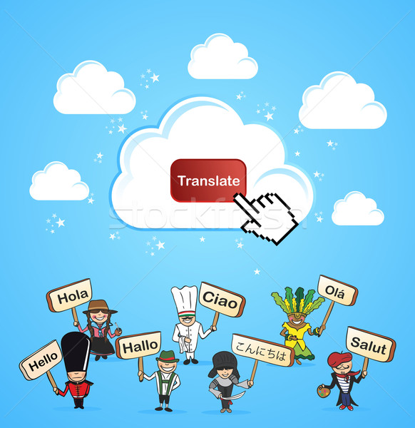 Cloud computing translate concept Stock photo © cienpies
