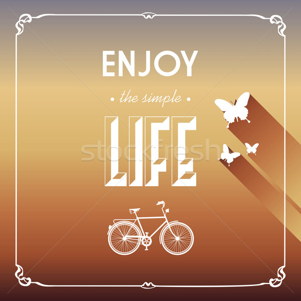 Vintage life style elements poster. Stock photo © cienpies