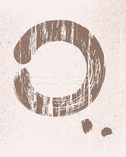 Zen circle illustration Stock photo © cienpies